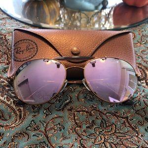 Ray-Ban Sunglasses RB3540 Double Bridge Lilac